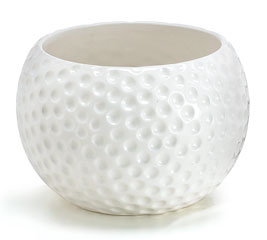 LARGE GOLF BALL CERAMIC PLANTER/BOWL