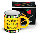 TEACHERS TOUCH LIVES STONEWARE MUG