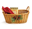 WILLOW BASKET W/ PINCONE/BERRY ACCENT