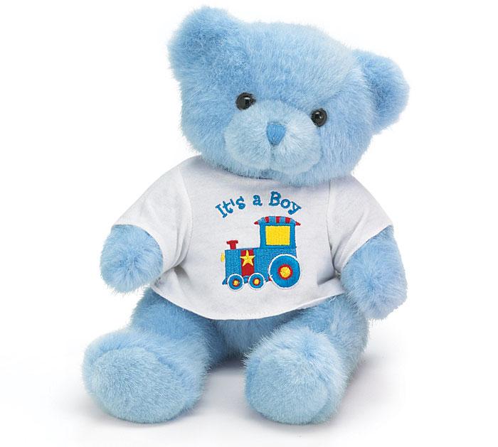 PLUSH BLUE IT'S A BOY BEAR