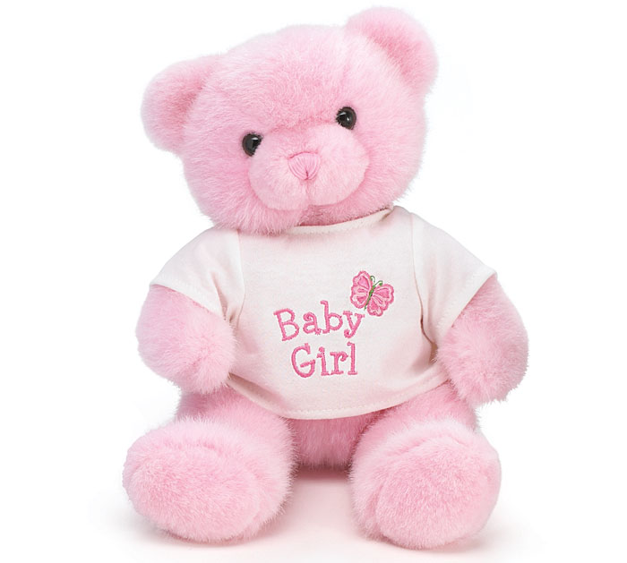 PLUSH PINK BABY GIRL BEAR