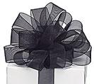 #9 BLACK SHEER RIBBON