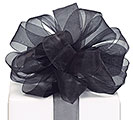 #5 BLACK SHEER RIBBON