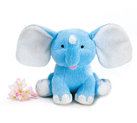 PLUSH BLUE ELEPHANT