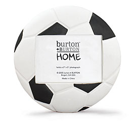 SOCCER BALL SHAPED PICTURE FRAME