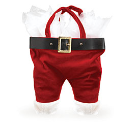 PLUSH SANTA PANTS GIFT BAG