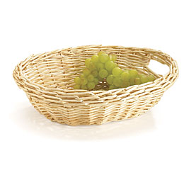 NATURAL OVAL SPLIT WILLOW BASKET