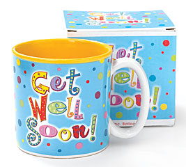 GET WELL SOON PORCELAIN MUG W/ BOX