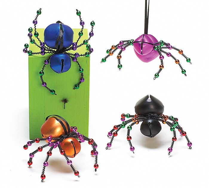 HALLOWEEN SPIDER BELL ORNAMENT