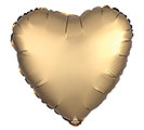 "17""SOL SATIN LUXE GOLD SATEEN HEART"