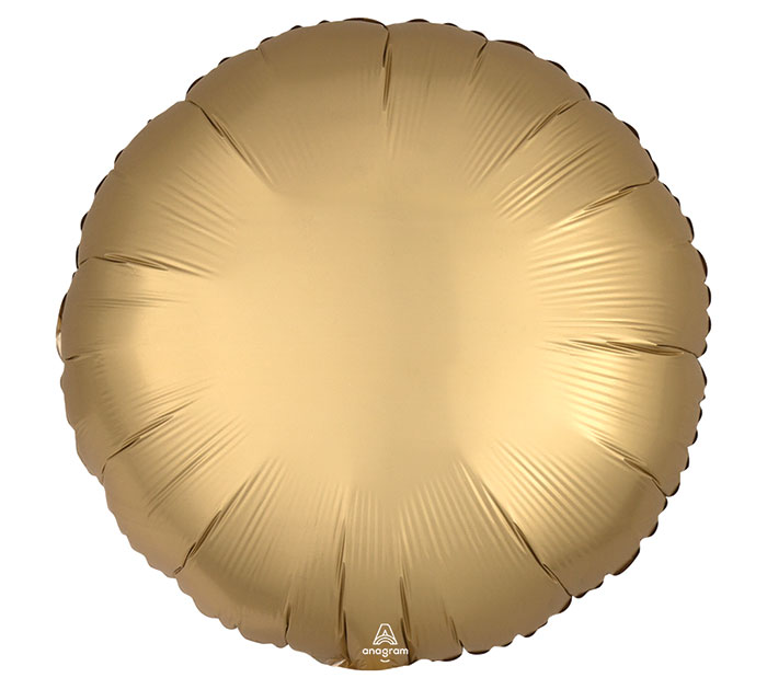 """17""""SOL SATIN LUXE GOLD SATEEN ROUND"""
