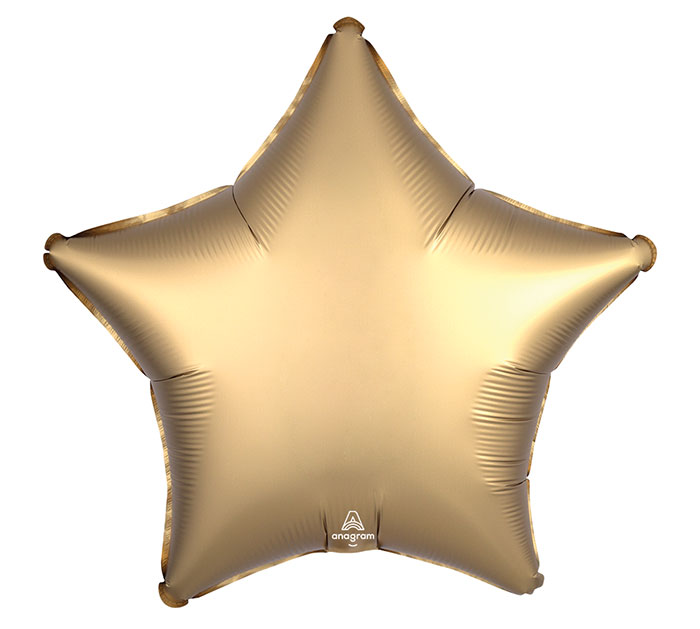"19""SOL SATIN LUXE GOLD SATEEN STAR"