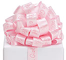 #5 IT'S A BOY PINK SATIN WIRED RIBBON