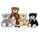 PLUSH GRAY/BROWN/BEIGE/BLACK BEAR SET