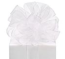 #9 WHITE SHEER RIBBON