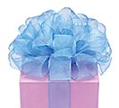 #9 SHEER BLUE WIRED RIBBON