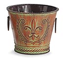 "6"" ORNATE RAISED TIN POT COVER"