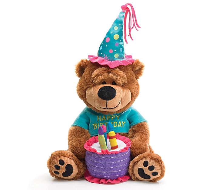 PLUSH HAPPY BIRTHDAY BEAR