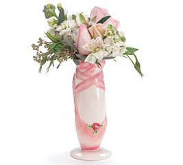 PINK BALLERINA BEAUTY CERAMIC VASE