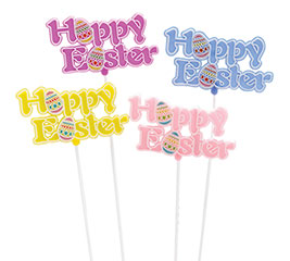 HAPPY EASTER PLASTIC PICK SET