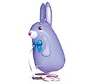 "21""PKG PURPLE RABBIT"