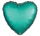"17""PKG SATIN LUXE JADE HEART"