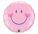 "18"" PKG PINK SWEET SMILEY FACE BALLOON"