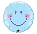 "18"" PKB BLUE SWEET SMILEY FACE BALLOON"