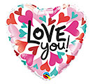 "18""PKG LOVE YOU CONVERGING HEARTS"