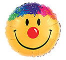 "36"" PKG SMILE FACE MULTICOLORED HAIR"