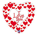 """17""""PKG I LOVE YOU SIMPLY RED HEARTS"""