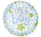 "17""PKG BABY BOY DOTS"