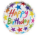 "17""PKG HBD BIRTHDAY STARS ON SILVER"