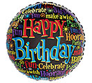 "17""PKG HBD BIRTHDAY MESSAGES ON BLACK"