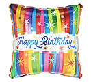 "17""PKG HBD BOLD STRIPES ON SQUARE"