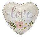 "17""PKG FLORAL LOVE HEART"