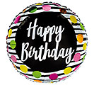 "17""PKG BIRTHDAY DOTS  STRIPES"