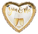"17""PKG YOU AND ME CHAMPAGNE GLASSES"