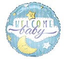 "17""PKG BABY WELCOME BABY BOY STARS MOON"
