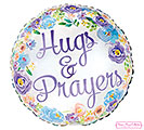 "17""PKG HUGS  PRAYERS FLORAL INSPIRATION"
