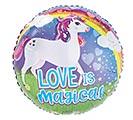 "17""PKG LOVE IS MAGICAL UNICORN"