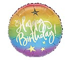 "17"" PKG HAPPY BIRTHDAY OMBRE BALLOON"