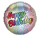 "18""PKG BIRTHDAY OMBRE RAINBOW DOTS"