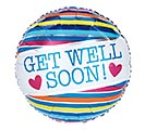 "17""PKG GET WELL SOON STRIPES"