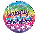 """17""""PKG BIRTHDAY OMBRE RAINBOW"""