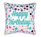 "17"" PKG BIRTHDAY DOTS SQUARE BALLOON"