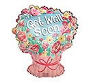 "18"" PKG GET WELL SOON BOUQUET BALLOON"
