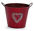 "6"" POT COVER TIN RED"