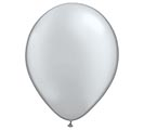 "11"" QUALATEX METALLIC SILVER LATEX"