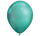 "11"" QUALATEX CHROME GREEN 25CT"